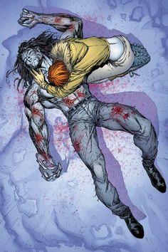 Comic Book Artists, Comic Book Characters, Comic Artist, Comic Books Art, Sabretooth Marvel, Wolverine, Green Goblin Spiderman, Comic Book Drawing, Black And White Comics