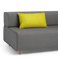 the head rest Block Party Lumbar Pillow, Green (shown on the Dark Gray Block Party Lounge Sofa)