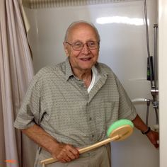 """""""Because of occupational therapy, I have all the odds and ends equipment and strength I need to take my own shower."""""""