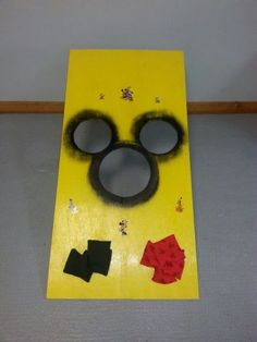 Mickey Mouse birthday bean bag toss.  See more Mickey Mouse birthday party and kids birthday party ideas at www.one-stop-party-ideas.com