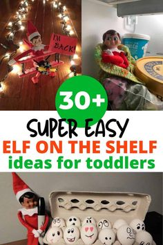 Tons of elf on the shelf ideas for kids and toddlers! Don't miss these simple elf on the shelf ideas for toddlers! Looking for easy elf on the shelf ideas for toddlers? These ideas take five minutes or less and are sure to delight your toddler! Easy Christmas Crafts, Simple Christmas, Christmas Time, Christmas Things, Holiday Fun, Christmas Activities For Toddlers, Toddler Activities, Elf On The Shelf Ideas For Toddlers, Family Activities