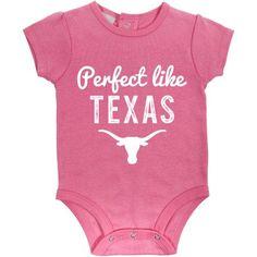 Russell Ncaa Texas Longhorns, Baby Girl 3 Piece Short Sleeve Bodysuit Set, Size: 0 - 3 Months, White