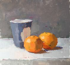 Eclipse oil on board #painting#still-life#contemporary art#orange
