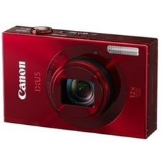 CANON IXUS 500 HS(Red) (10.1 MP HS CMOS, 12X Optical Zoom, 7.5cms LCD Screen Full HD. )