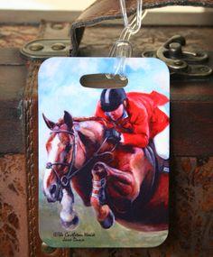 Castleton House Classic Sapphire Luggage Tag  www.TheCastletonHouse.com