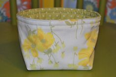 Fabric Basket Floral