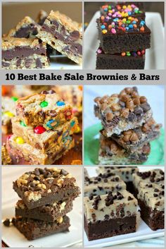10 Best Bake Sale Recipes: Brownies and Bars Best Bake Sale Brownies Bake Sale Treats, Bake Sale Recipes, Baking Recipes, Bake Sale Cookies, Bake Sale Food, Brownie Recipes, Cookie Recipes, Brownie Ideas, Cupcake Recipes