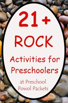 This is a great collection of educational rock activities you can do with preschoolers! Includes science, math, lettesr, and more!