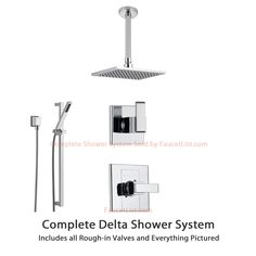 Delta Arzo Collection Chrome Finish Custom Shower System SS148681