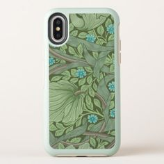 Wallpaper Pattern Sample with Forget-Me-Nots OtterBox Symmetry iPhone X Case - sample design diy personalize idea