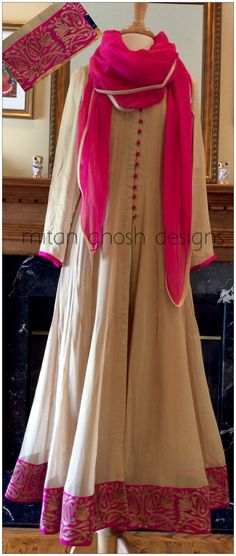 Long Anarkali with straight pants