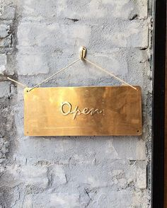 Simple and beautiful signage