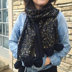 Give a gift that warms the heart (and the body)! / Gold-flecked scarf: $38 ($35.20 members)
