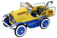 Tow Truck Roadster Pedal Car, Yellow on OneKingsLane.com: How coolwou l d this be for my nephew..i love it!!: )