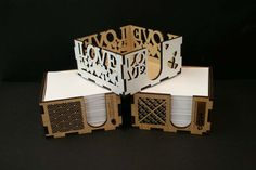 Xmas Gifts -Laser Cut Paper Boxes. Great Corporate Gift with your Branding. Custom Made by @potato_press