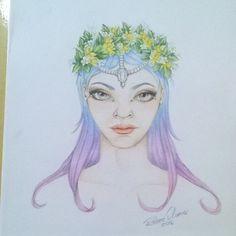 """""""Sem título"""" ( Lápis de cor sobre papel) #arte #art #ilustração #illustration…"""