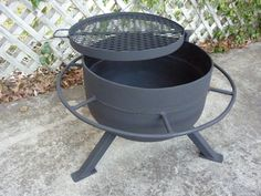 tank end fire pit/grill or square version