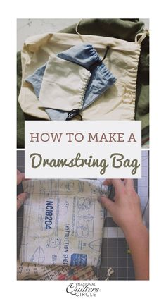 Drawstring bags are perfect quick and easy projects that only use small amounts of fabric. Learn how to make a fat eighth drawstring bag. Easy Sewing Projects, Quilting Projects, Sewing Hacks, Sewing Crafts, Craft Tutorials, Sewing Tips, Sewing Ideas, Craft Ideas, Applique Designs