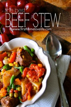 There is nothing more satisfying then this beef stew on a cold winter's night! It's even better made in a crockpot and leftovers, YUMMO!