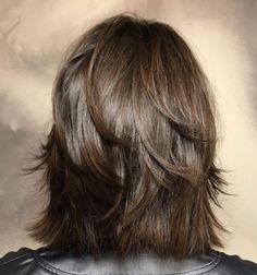 60 Most Universal Modern Shag Haircut Solutions - - Modern Razored Shag Medium Layered Haircuts, Medium Hair Cuts, Medium Hair Styles, Curly Hair Styles, Short Shag Hairstyles, Feathered Hairstyles, Formal Hairstyles, Men's Hairstyles, Wedding Hairstyles