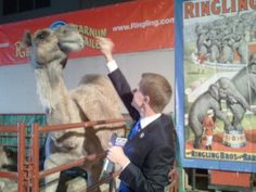 Matt and his new friend at the circus.