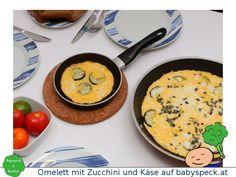 Omelett mit Zucchini und Käse - Kleinkindrezept für einfache Eierspeise