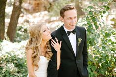 We've spent the last 45 minutes of our day happily swooning over this stunning duo's beyond fab engagement session - and now it's time to jump right into their uber-gorgeous wedding. And by uber-gorgeous wedding, I mean a take-your-breath-away masterpiece from the geniuses