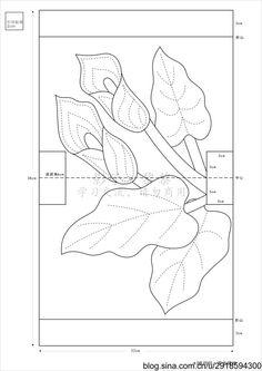[转载]【影子手绘】扶桑花和马蹄莲包包<wbr>图纸