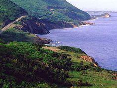 Cabot Trail, in Cape Breton, Nova Scotia, Canada Cabot Trail, Places To Travel, Places To See, Travel Stuff, Voyager Loin, Physical Geography, Cape Breton, Just Dream, Prince Edward Island