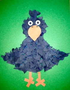 Torn Paper Crow! Can't have a Scarecrow Unit without one!