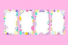 Modelo da história do Instagram de Memphis   - Coisas para usar - #coisas #história #instagram #Memphis #Modelo #PARA #usar Page Layout Design, Book Design, Adobe Illustrator, Card Templates, Frame Template, Memphis Pattern, Free Frames, Instagram Story Template, Vector Photo