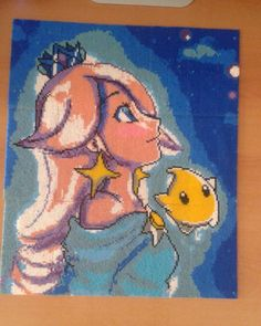 Princess Rosalina - Super Mario Galaxy perler bead art by lloma_04.10