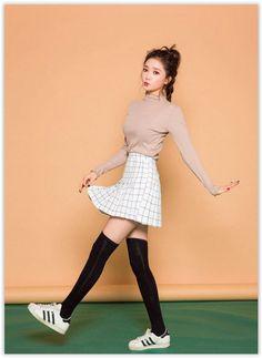 chuu - Check Mini Skirt #koreanfashion #checkskirt #miniskirt: