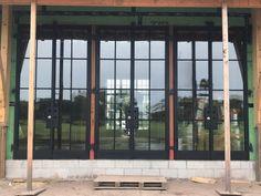 FireRock steel doors being installed for a luxury custom home in Jacksonville, FL