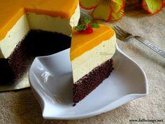Eggless Mango Mousse Cake  http://www.fullscoops.net/2014/05/eggless-mango-mousse-cake.html