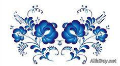 Гжель, русский орнамент