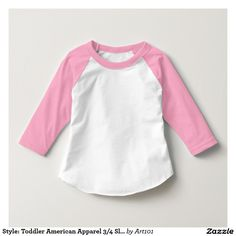 Style: Toddler American Apparel 3/4 Sleeve Raglan Shirt