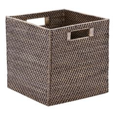 Blackwash Rattan Cube - 8 of these for each gbr window seat Shop Storage, Cube Storage, Closet Storage, Diy Storage, Storage Baskets, Storage Ideas, Bedroom Storage Cabinets, Bathroom Containers, Storage Bench With Cushion
