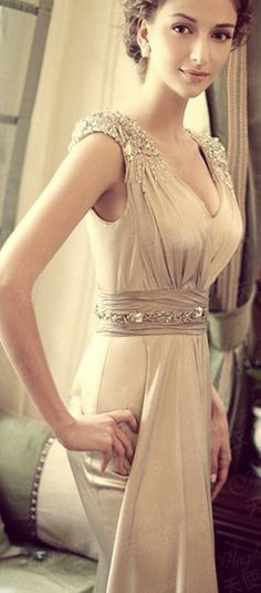 Romantic Simple Wedding dress / Bridesmaid dress by angeliciousc, $280.00