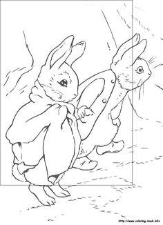 Simple Rabbit Coloring Book 38  Peter Rabbit printable