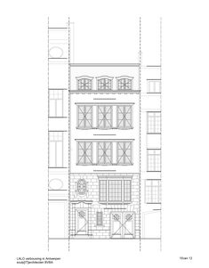Image 30 of 33 from gallery of Town House in Antwerp / Sculp[IT]. Antwerp, Townhouse, Home Goods, Floor Plans, How To Plan, Gallery, Image 30, Houses, Arch