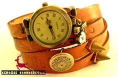 (KUNST)STÜCK 3 Unikat Wickeluhr Armbanduhr Unisex von Schloss Klunkerstein - Uhren, von Hand gefertigter Unikat - Schmuck aus Naturmaterialien, Medaillons, Steampunk -, Shabby - & Vintage - Schätze, sowie viele einzigartige und liebevolle Geschenke ... auf DaWanda.com