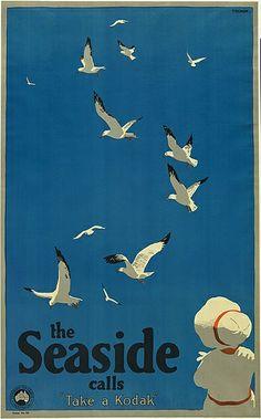 PERCIVAL ALBERT (PERCY) TROMPF (1902-1964) THE SEASIDE CALLS. Circa 1935.