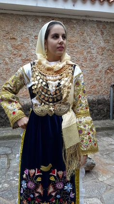 TRADITIONAL COSTUMES-AVLONAS ATTICA. outdoor of Zygomalas Museum.. all rights reserved Folk Clothing, Greek Clothing, Historical Clothing, Greek Traditional Dress, Traditional Clothes, Greek Costumes, Greek Culture, Greek Apparel, Folk Dance