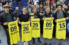 Tuchel, Piszczek, Schmelzer, Watzke and Hummels at a Basketball Game of Alba Berlin after their match against Hertha in Berlin - 06.02.2016