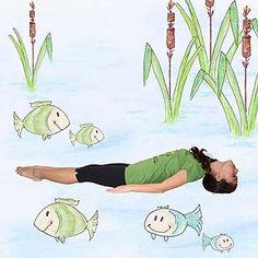 Yoga For Kids, Exercise For Kids, Pond Life, Yoga Art, Relax, Children, Creative, Cards, Gymnastics For Kids