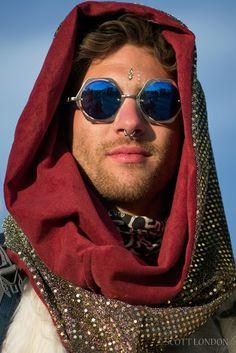Luke looking fabulous at Robot Heart at Burning Man 2015. (Photo by Scott London)