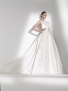 Fall in love with the layers of tulle, dazzling gemstones and figure-enhancing cuts that make up Pronovias' latest range