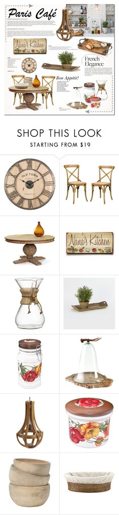 """""""Bon Appétit: Paris Café"""" by cruzeirodotejo ❤ liked on Polyvore featuring interior, interiors, interior design, home, home decor, interior decorating, Puji, Nana', Crate and Barrel and Spigarelli Ceramiche"""