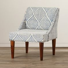 $370 Bungalow Rose Gilmore Cotton Slipper Chair